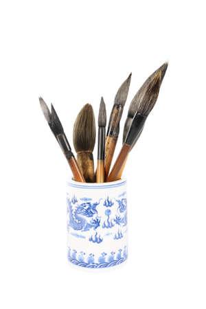 chinese traditional writing brush in brush pot Stock Photo - 8436131