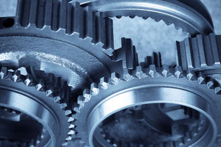spare part: close up of the gears(teamwork concept) Stock Photo