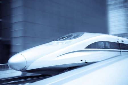 bullet train: high speed train with motion blur