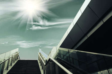 stairs under the sun, urban fantasy landscape photo