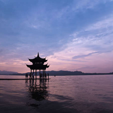 West lake in hangzhou,China.