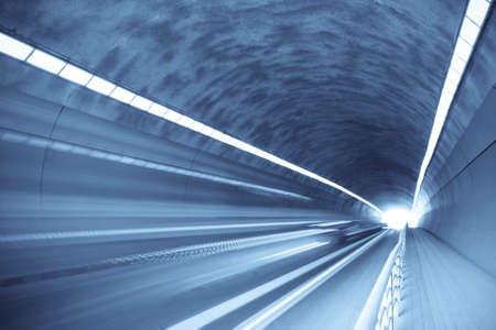inside the tunnel with motion blur Stock Photo - 8494375