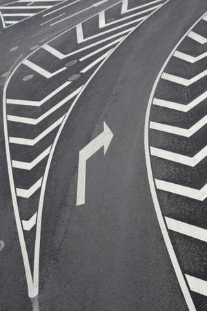 right turn of traffic signs in the urban road photo