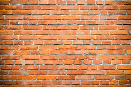 old brick wall: old red brick wall background
