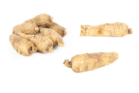 american ginseng with white background  Stock Photo