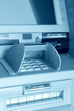 close up of the automated teller machine photo
