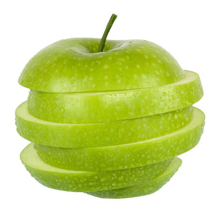 manzana verde aislado en blanco