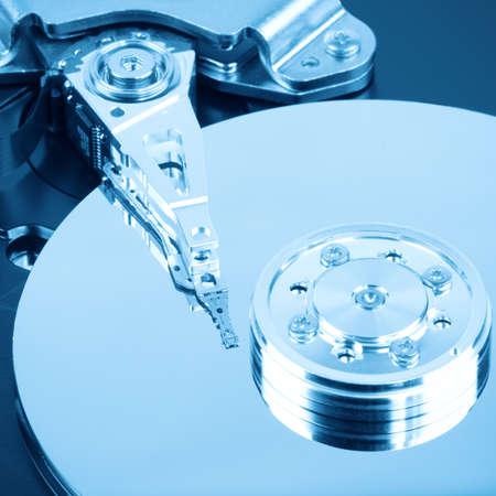 internals: close up of the internals of computer hard drive
