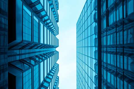 modern glass building in hongkong photo