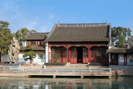 chinese traditional old house in classical gardens of Suzhou photo