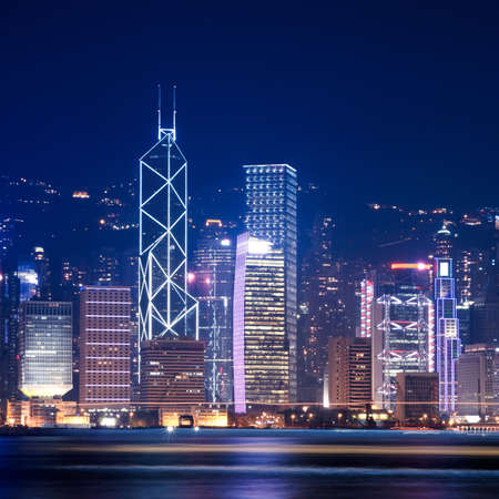 Hong Kong skyline at victoria harbour photo