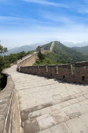 great wall: winding great wall in beijing