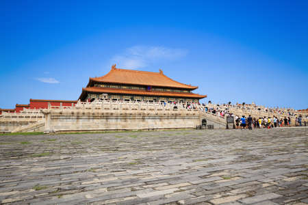 the forbidden city against a blue sky Stock Photo - 10354811