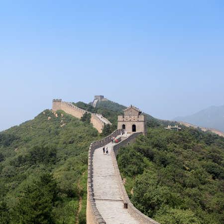 muralla china: la Gran Muralla de China, un baluarte inexpugnable en Beijing Foto de archivo