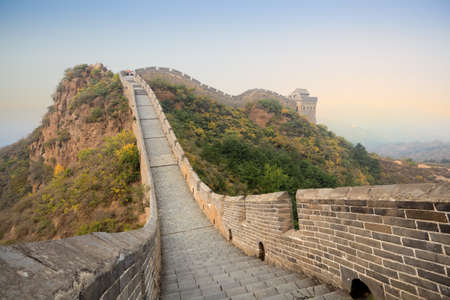 stone steps: the great wall of China at autumn