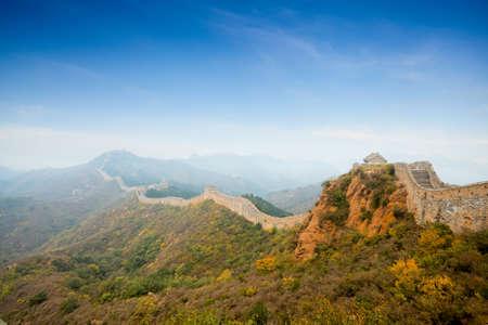 China great wall at autumn Stock Photo - 10840798
