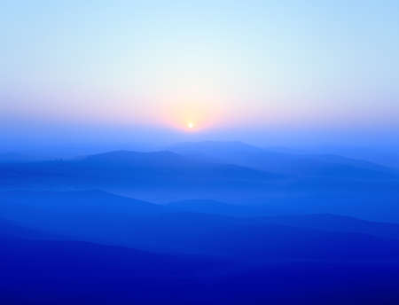 blue ridge mountains at sunrise photo