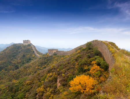 hebei province: the great wall autumn scenery in hebei province, China jinshanling Stock Photo