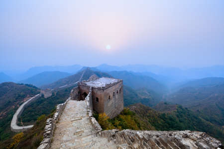 the great wall of china at sunrise Stock Photo - 11109153