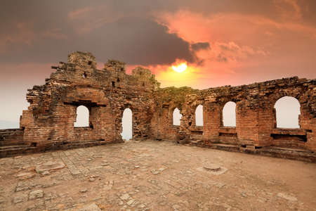 in ruins of the great wall watch tower at sunset Stock Photo - 11109157