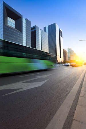 modern city street at dusk in beijing Stock Photo - 11145224