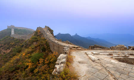 the great wall of china in autumn dawn Stock Photo - 11284198