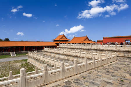 three layer: three layer platform of the forbidden city in beijing Stock Photo