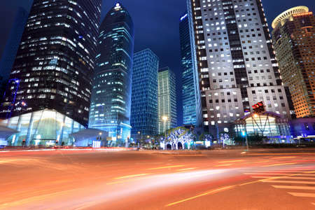 night scene of the modern building background in shanghai lujiazui financial center,China. photo