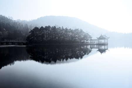 beautiful lake like a painting Stock Photo - 11487168