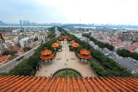 wuhan: cityscape of wuhan city, hubei province, China