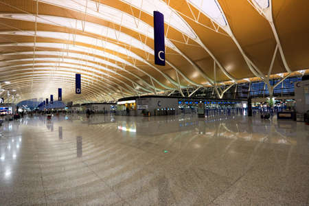 inside shanghai pudong international airport Stock Photo - 11729406