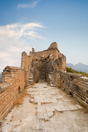 desolation: desolation of the great wall against a blue sky Stock Photo