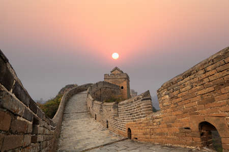 the great wall winding at sunrise photo