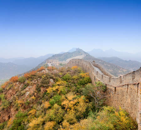 the great wall of china with blue sky at autumn Stock Photo - 12176369