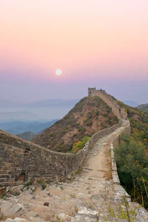 wild the great wall of China at sunrise Stock Photo - 12176335