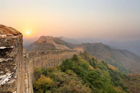 sunrise in the great wall of china Stock Photo - 12176338