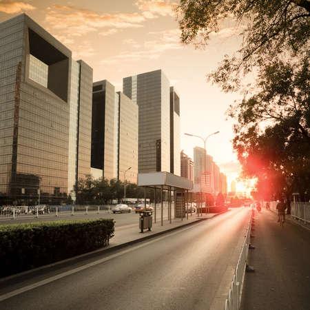 city traffic at dusk in modern beijing Stock Photo - 12672958