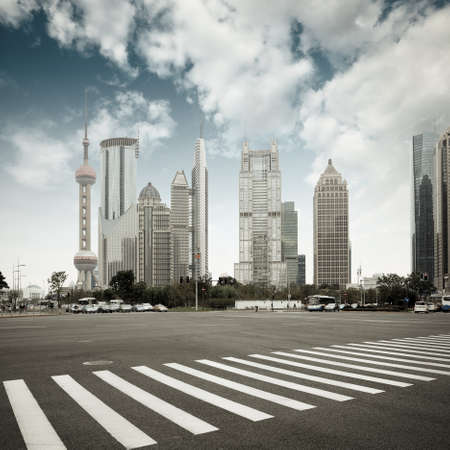 avenues: the scene of the century avenue in shanghai,China.