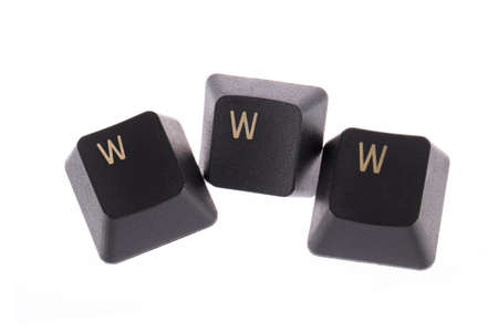 WWW word formed computer keys spelling photo