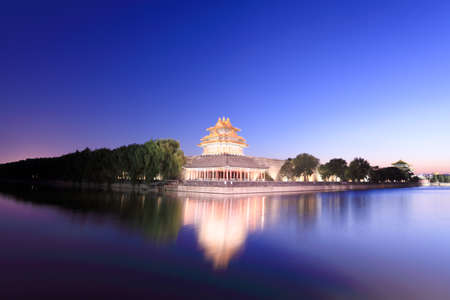 beautiful scenery of the forbidden city at dusk in beijing,China Stock Photo - 12755580