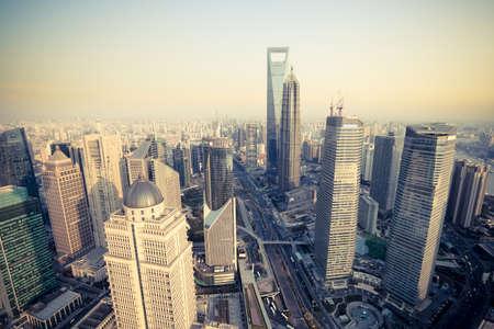 overlooking shanghai financial center  Stock Photo - 12754242