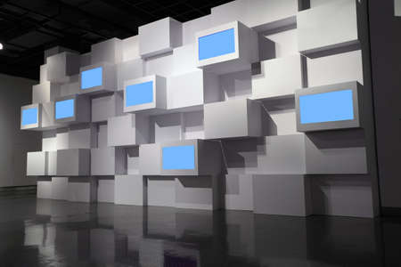 video wall: video wall  in a exhibition room