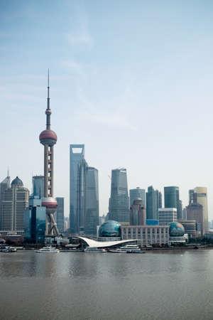 the modern city shanghai pudong,China Stock Photo - 13134628