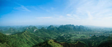 panoramic view of guilin hills,China photo