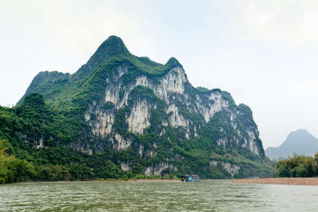 guilin hill, famous nine horses draw mountain in lijiang river,China photo