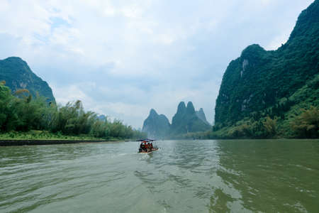 the scenery of lijiang river in Guilin,China photo