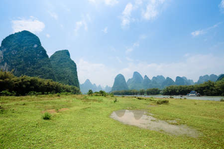 karst: beautiful karst mountain landscape in guilin, China