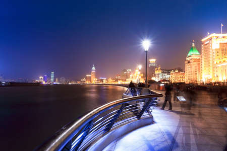 belle le Bund � Shanghai la nuit photo