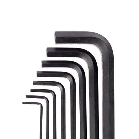 allen wrench: hex key wrench set isolated on white