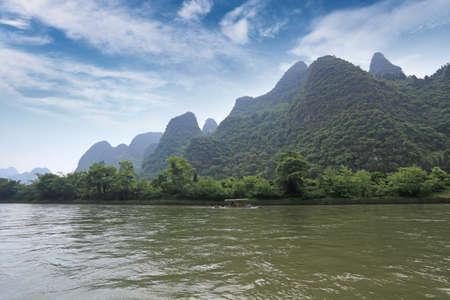 beautiful scenery of lijiang river in guilin,China photo